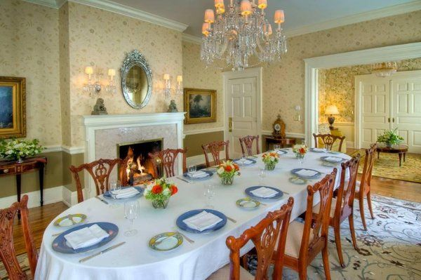 The Private Dining Room, perfect for initimate rehearsal dinners or receptions  Woodlands Mansion,...