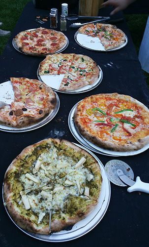 Variety of pizza
