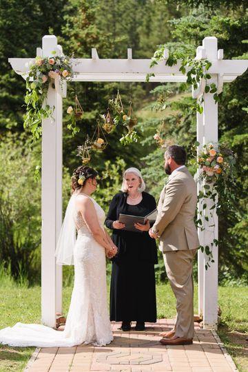 A beautiful outdoor wedding