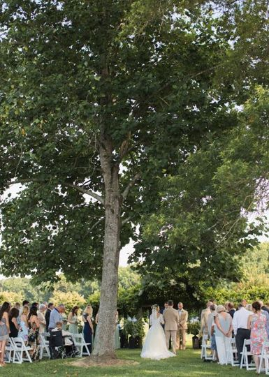 Wooded ceremony location