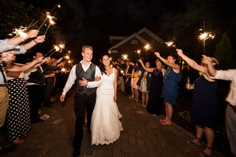 Guests celebrating the newlyweds