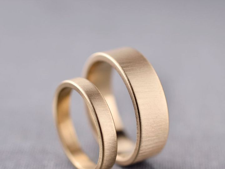 Tmx 1403561826061 3mm And 6mm 14k Gold Wedding Bands Seattle wedding jewelry