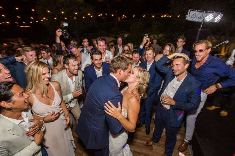 Kiss Me Baby, One More Time!  A beautiful out door wedding at Emerald Bay, Laguna Beach Ca