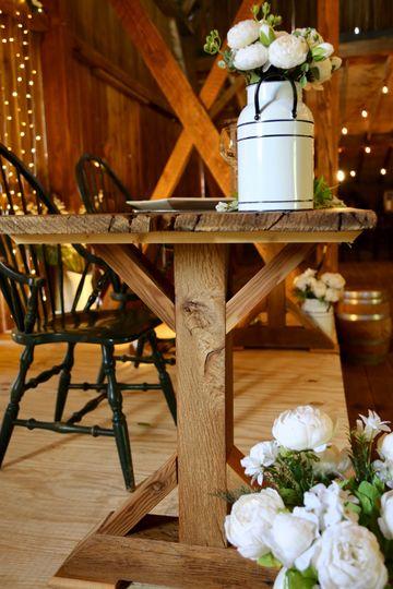 Trestle style head table