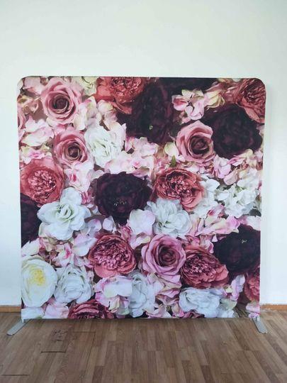 Blush and burgundy backdrop