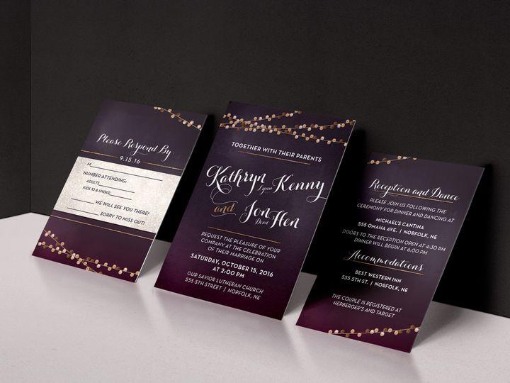 Tmx 1484248575352 3 Piece Purplebronze Wedding Set Norfolk wedding invitation