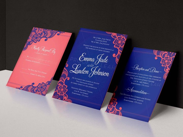 Tmx 1484248577251 3 Piece Lace Wedding Set Norfolk wedding invitation