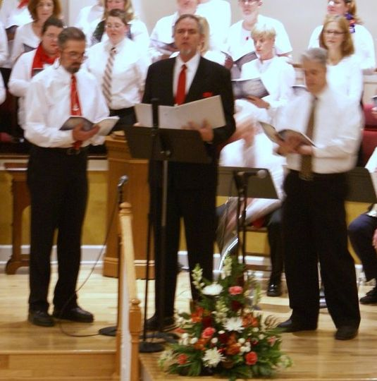 Performing a solo in the Christmas Cantata at Chester United Methodist Church 2010