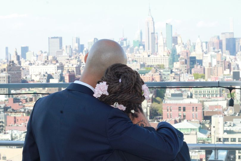 Rooftop wedding new york city