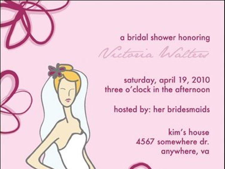 Tmx 1217347462246 Bridal Shower 004 8x5 Durham wedding invitation