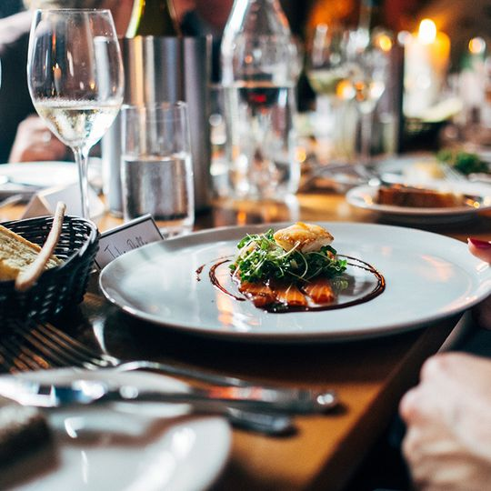 Formal plated dinners