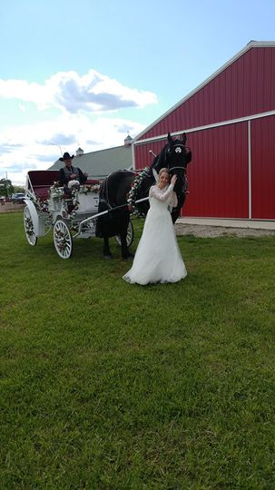 Bride & carriage