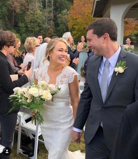 Newlyweds at Lake Lure Inn