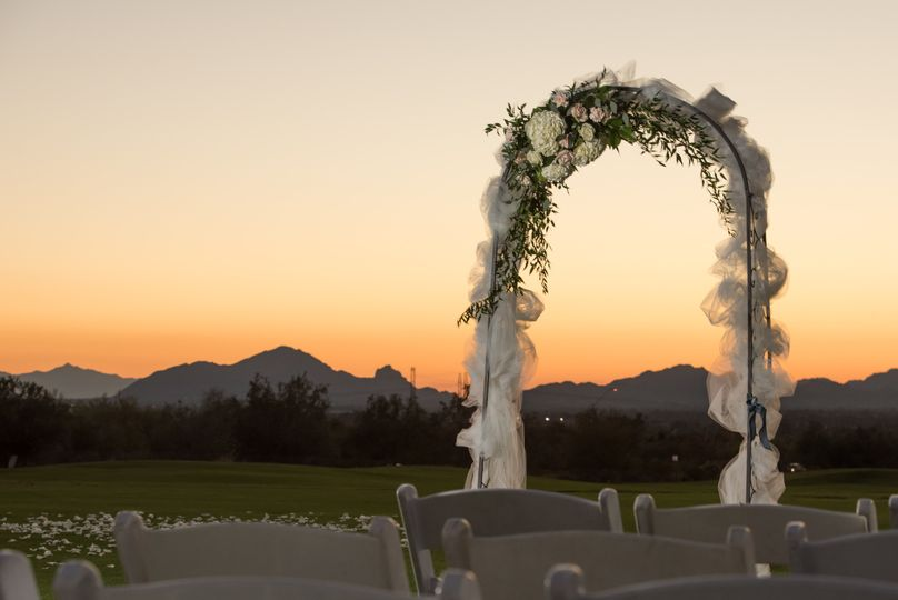 Floral arch - photo by cw life photography