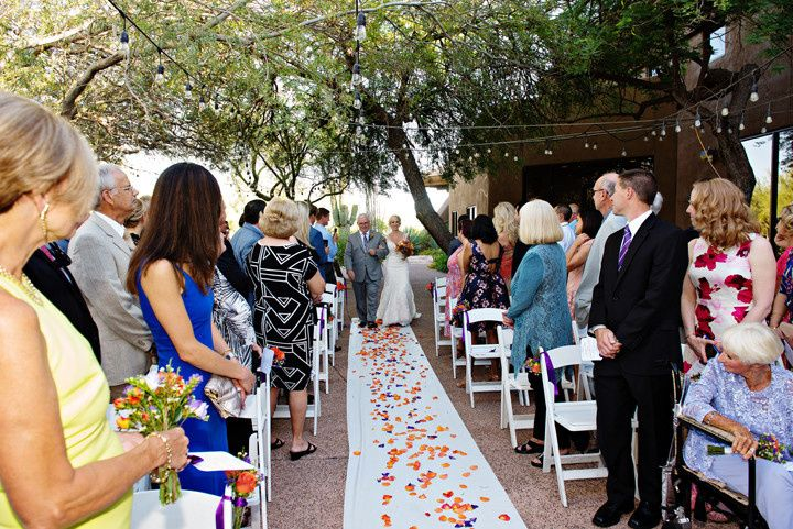 Walking on the aisle - photo by mary sandy photography