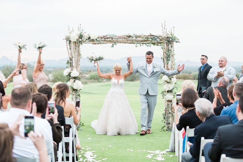 Newlyweds - photo by laura kobes photography