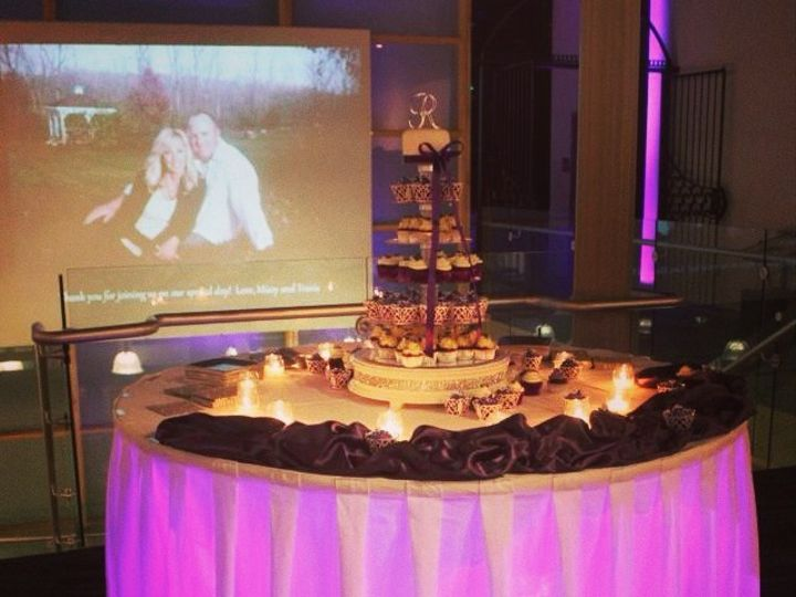 Tmx 1395703896572 Uplighting Cake Tabl Bettendorf, IA wedding dj