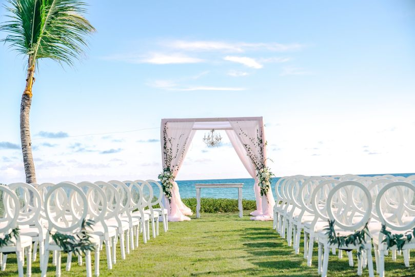 Garden ceremony by the beach