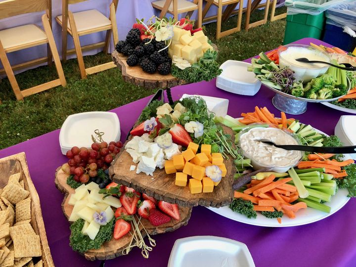 Cheese, Cracker, Fruit & Vegetable Display