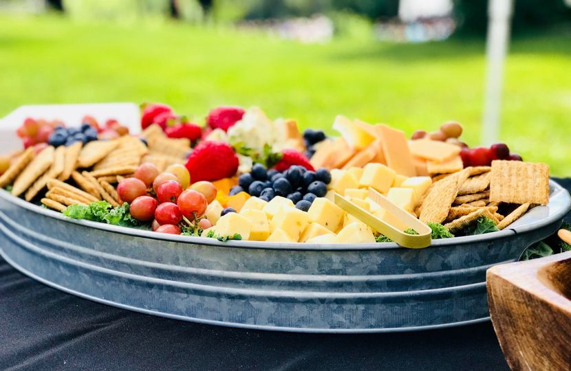 Cheese, Cracker & Fruit Tray