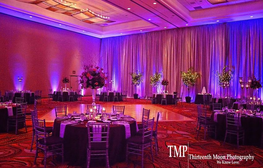 elegant entertainment purple uplighting