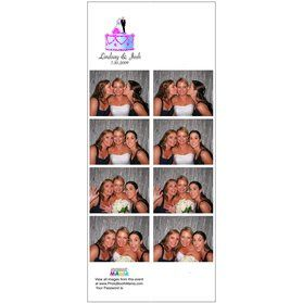 "Photo Booth Mania's unique 3-2/3"" x 8-1/2"" Tall Strips offers duplicate strips print layout plus as..."