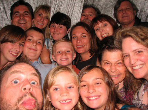 15 in a photo booth...WOW! Try getting that many in a picture in a hard-bodied photo booth.