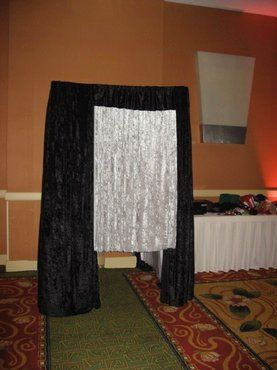 A Photo Booth Mania booth at the at the Newport Marriott Hotel prior to the start of a large wedding...