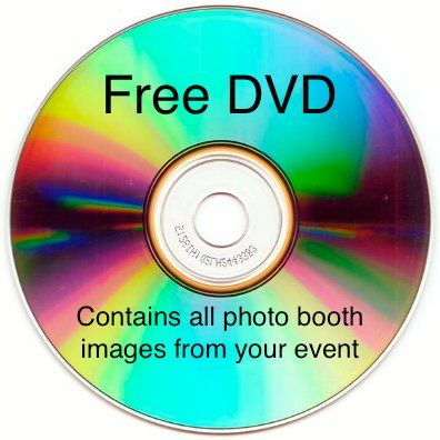 Included with each photo booth rental is a DVD containing all photo booth images from the event.