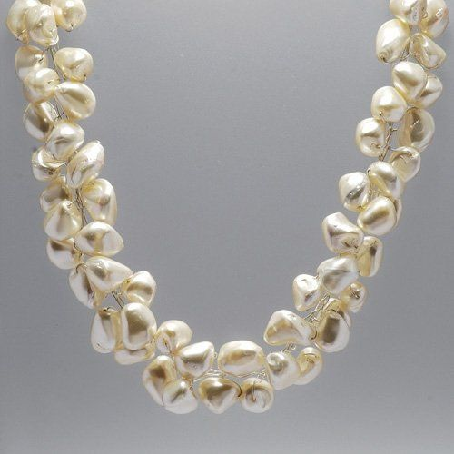 This one's stunning! Really big freshwater pearls on fine silver wire with Sterling Silver clasps....