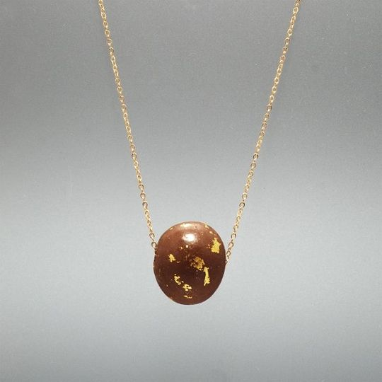 Chocolate Chain Necklace. So cute, no it doesn't melt on your neck! Tested in the Miami heat, and...