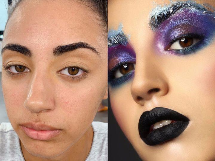 Outrageous editorial makeup