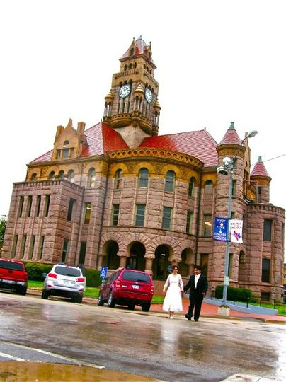 Our bed and breakfast faces this gorgeous Wise County Courthouse where you can get your marriage...