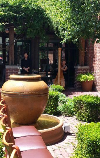 Lydia's patio wedding