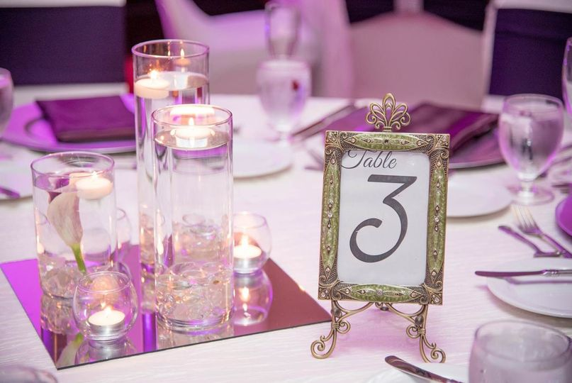 Clearwater Ballroom - Wedding Reception  Photo Credit: CCS Photography  Linens: Kate Ryan Linens