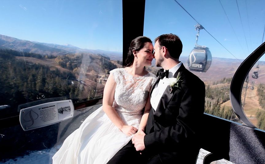 Couple in ski lift C