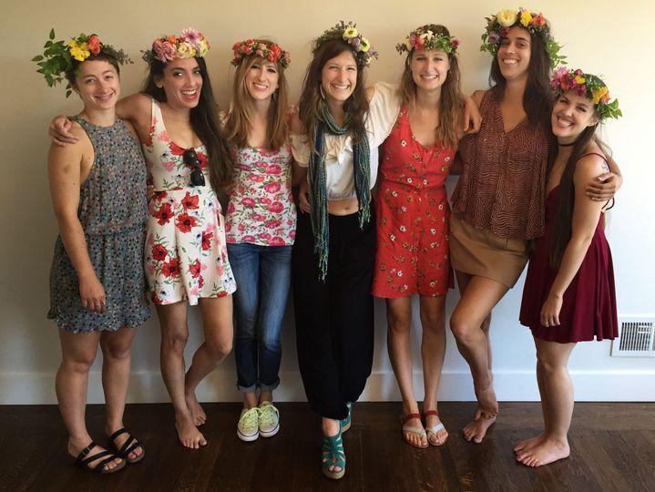 Bridal party flower crown workshop