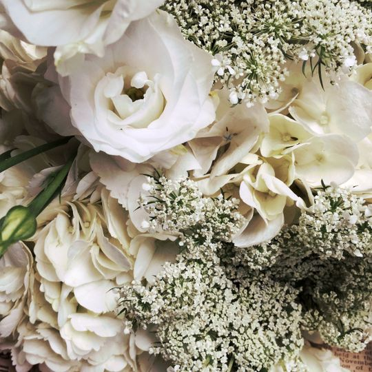 Baby's breath for everlasting love and happiness