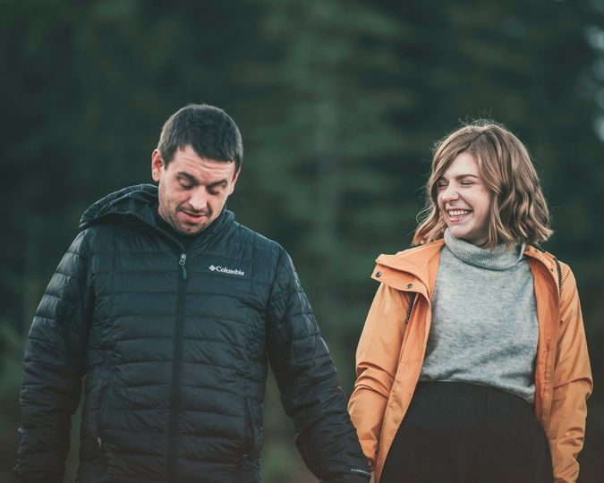 Photo of couple in forest