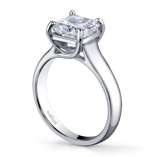 Square cut diamond
