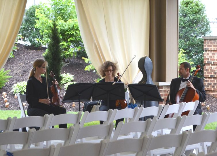 tuning up before the ceremony