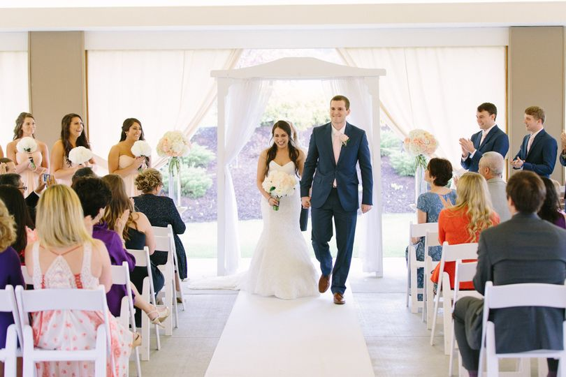 coming down the aisle as mr and mrs
