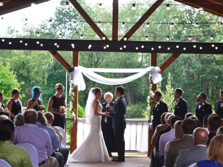 Tmx 1455051838713 Pavilion Ceremony Bride And Groom With Minister Wexford wedding venue