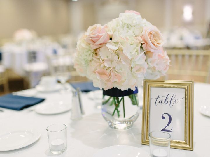 Tmx 1464093624083 Table Top With Light Pink Center Wexford wedding venue