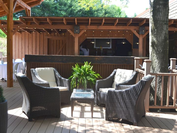 Tmx 1513794564440 Frescos Outdoor Lounge Area And Deck Bar Wexford wedding venue