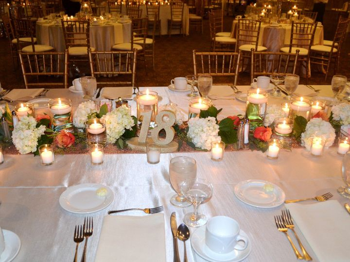 Tmx 1513794577532 Reception With Low Centerpiece For Rectangular Tab Wexford wedding venue