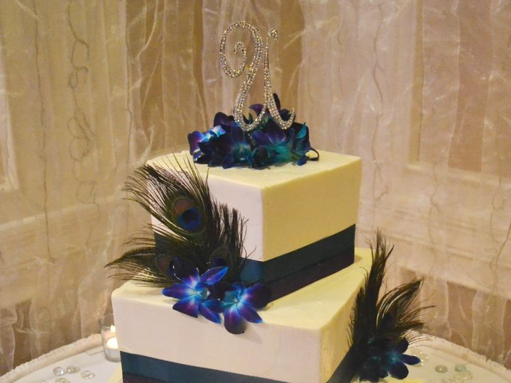 Tmx 1513795222719 Stacked Cake With Peacock Feathers Wexford wedding venue
