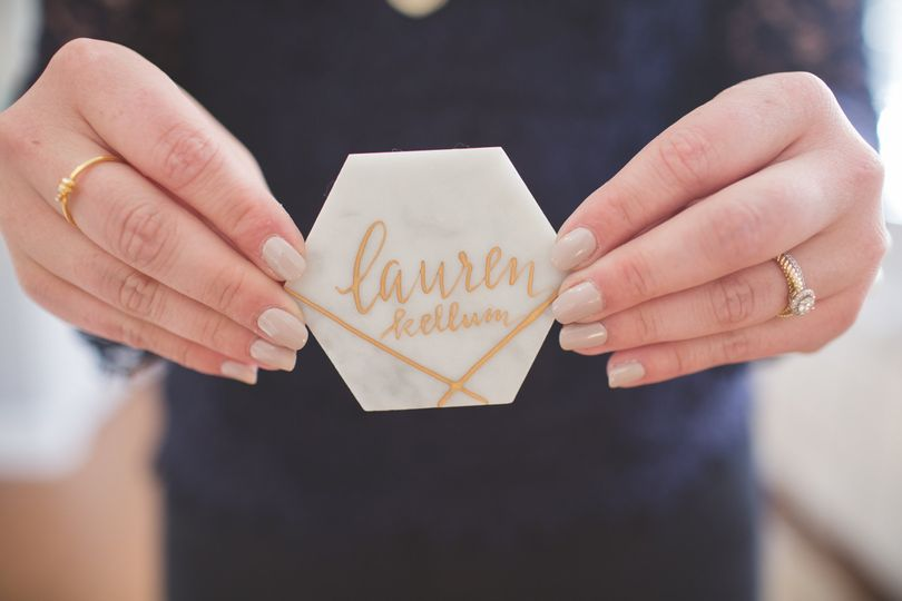 Calligraphed place cards