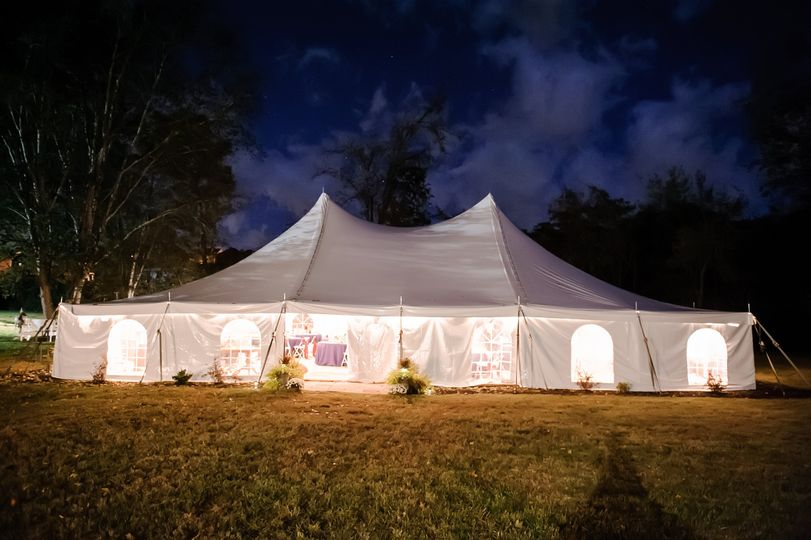 Tent for the event
