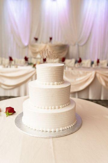 Wedding cake and head table